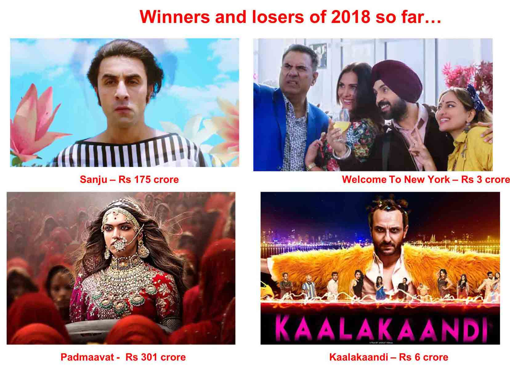Winners and losers of 2018