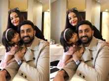 Abhishek Bachchan joins Aishwarya and Aaradhya Bachchan in Paris