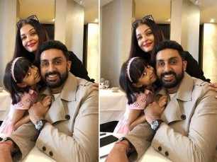 Abhishek Bachchan joins Aishwarya and Aaradhya Bachchan in Paris