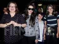 Karisma Kapoor returns to India with mom Babita Kapoor and her kids