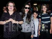 Karisma Kapoor returns to India with mom Babita Kapoor and her kids