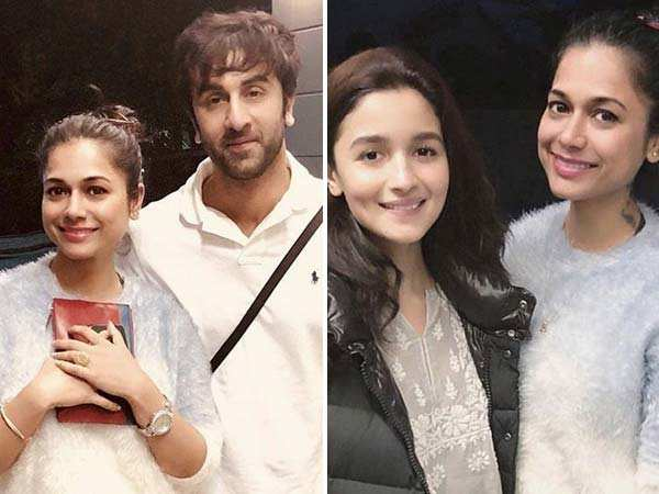 Lovers Ranbir Kapoor and Alia Bhatt twin in white on the sets of Brahmastra