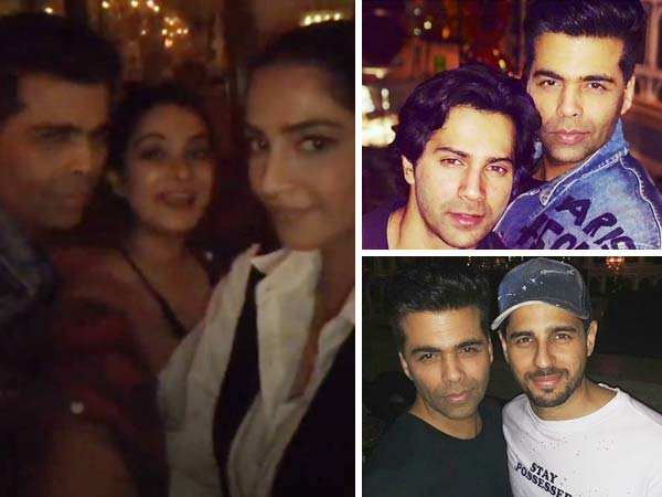 Inside Photos! Sonam Kapoor, Karan Johar, Varun Dhawan party the night away