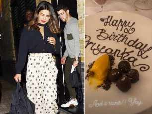 Priyanka Chopra celebrates her birthday with Nick Jonas in London