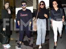Sonam Kapoor, Arjun Kapoor, Parineeti and Taapsee spotted at the airport