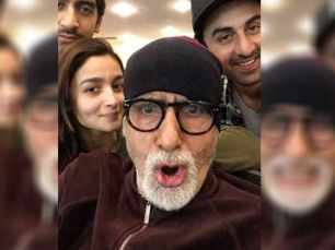 Amitabh Bachchan gives an update from the sets of Brahmastra