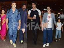 Akshay Kumar and his family return from their exotic vacation