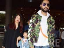 Abhishek, Aishwarya and Aaradhya Bachchan return from their London trip