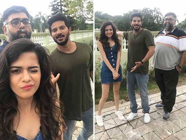 Dulquer Salmaan enjoys a trip to the land of Baahubali with team Karwaan