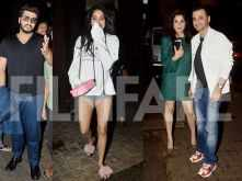 The Kapoor clan arrives at Sonam Kapoor's residence for a cosy dinner