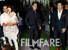 M S Dhoni, Shah Rukh Khan, Sachin Tendulkar grace Poorna Patel's reception