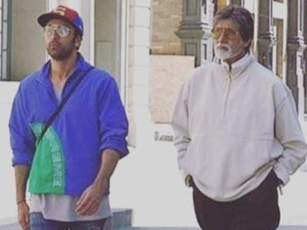 Amitabh Bachchan & Ranbir Kapoor step out for a stroll together in New York