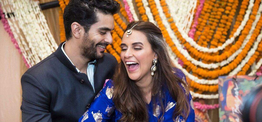 Sweet! Neha Dhupia and Angad Bedi celebrate their one month anniversary