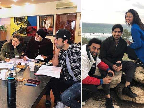 Amitabh Bachchan, Alia Bhatt and Ranbir Kapoor prep for Brahmastra