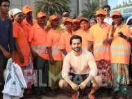 Varun Dhawan comes out for a clean-up drive on World Environment Day