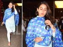 Sara Ali Khan arrives in Mumbai after shooting for Simmba in Hyderabad