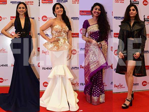 Rakul Preet, Regina Cassandra, Sai Pallavi, Ritika Singh make heads turn at  the Jio Filmfare Awards (South) 2018