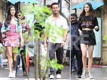 Ananya Panday, Tiger Shroff and Tara Sutaria on the sets of SOTY 2