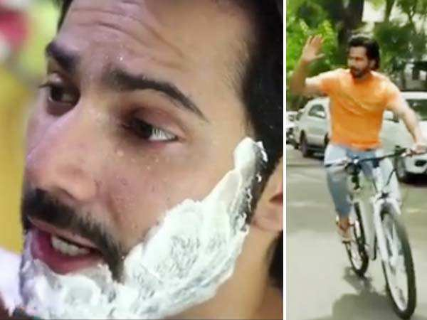 Varun Dhawan visits a local barber to ace his Sui Dhaaga look