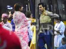 Varun Dhawan and Anushka Sharma shoot for Sui Dhaaga in Mumbai
