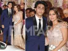 Gauri Khan with son Aryan Khan at Akash Ambani – Shloka Mehta's engagement