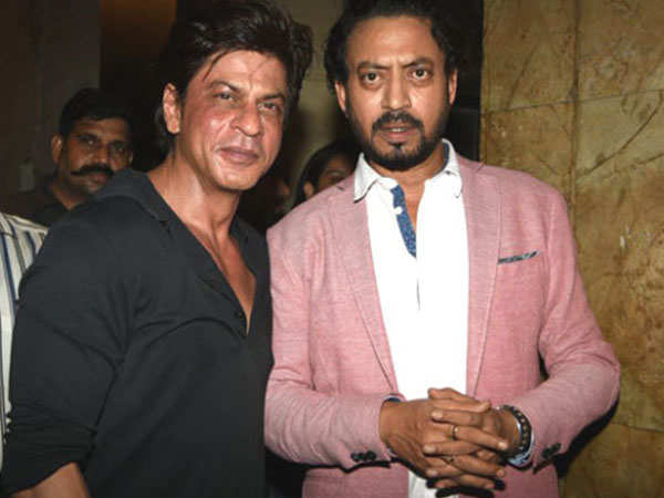 Shah Rukh Khan met Irrfan Khan before he left for London