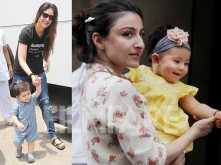 Latest pictures! Inaaya Kemmu and Taimur Ali Khan's day out with their moms