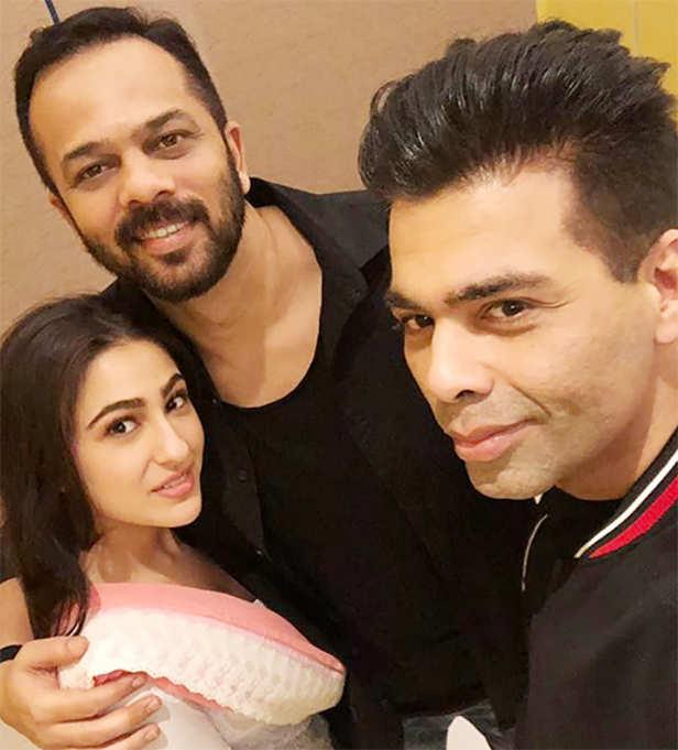 Ranveer Singh, Karan Johar, Rohit Shetty