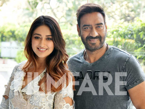 Ileana D'Cruz and Ajay Devgn promote Raid in New Delhi