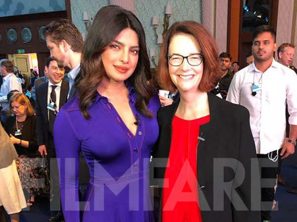 Photo Alert! Priyanka Chopra meets former Australian PM Julia Gillard in Dubai
