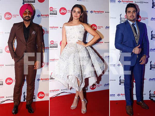 Ranjit Bawa, Surveen Chawla and Ninja turn heads at the Jio Filmfare Awards (Punjabi) 2018