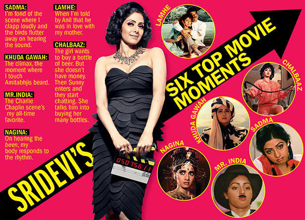 Filmfare Exclusive! Back when Bollywood superstar Sridevi picked her six favourite movie moments
