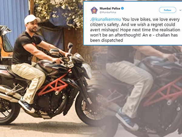 Power of social media! Kunal Kemmu gets fined for riding his bike without wearing a helmet