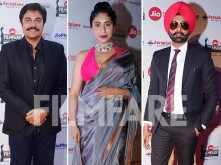 Guggu Gill, Tarsem Singh Jassar and Neha Bhasin attend the Jio Filmfare Awards (Punjabi) 2018