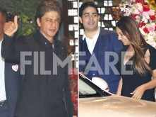 Shah Rukh Khan and Gauri Khan stun in black at Akash Ambani & Shloka Mehta's engagement bash