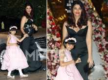 Aishwarya Rai Bachchan arrives with li'l Aaradhya at Akash Ambani & Shloka Mehta's engagement bash