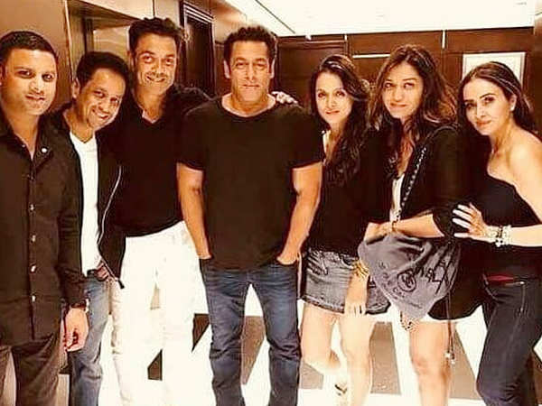 Bobby Deol and Salman Khan unwind with the crew of Race 3 in Abu Dhabi