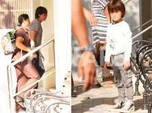 Photos: Li'l Abram heads out with parents Shah Rukh Khan and Gauri Khan