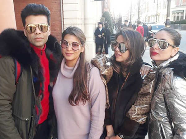 Pictures! Kareena Kapoor Khan enjoys the London chill with Karan Johar