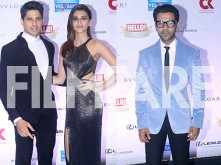 Sidharth Malhotra, Kriti Sanon and Rajkummar Rao look their stylish best at the Hello Hall of Fame