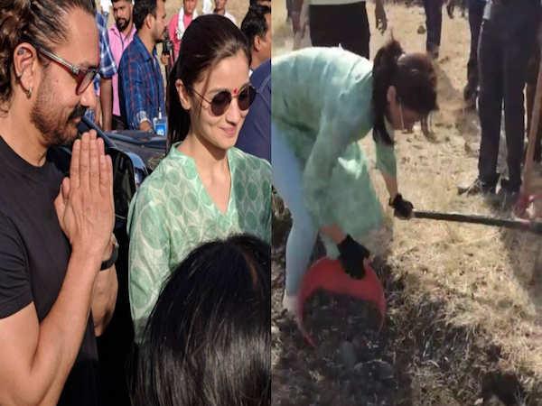 Labour Day: Alia Bhatt does Shramdaan with Aamir Khan