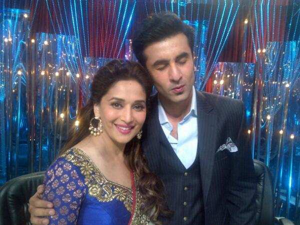 """Ranbir Kapoor and Madhuri Dixit have worked together in Yeh Jawaani Hai Deewani and sizzled in the Ghagra song. The duo's chemistry was appreciated by one and all in the song and their dance steps became a rage among the audience. Now, Ranbir will be seen working with Madhuri yet again. The actor will be seen playing the part of a superstar in Madhuri's debut film in Marathi called Bucket List. Though it will be a cameo, the news about Madhuri and Ranbir coming together has created a stir among the audience. While talking about Ranbir, Madhuri told a leading daily that, """"It was exciting to know that Ranbir was being considered for a cameo. We had a blast when we had danced to Ghagra and I knew the chemistry would be perfect this time too, for this scene. The whole team was enamoured by his charm when we were shooting for this scene.""""   Bucket List has been directed with Tejas Deoskar and will hit the theatre screens on May 18, 2018. We're super excited for Madhuri's Marathi debut, what about you?"""