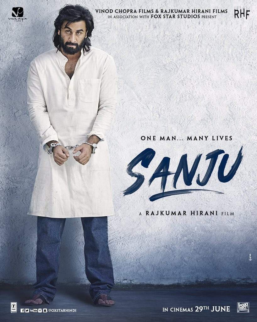 Ranbir Kapoor nails Sanjay Dutt's look from 1993 in this poster of Sanju