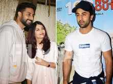 Ranbir Kapoor, Aishwarya Rai & Abhishek Bachchan at 102 Not Out screening