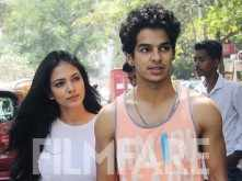Ishaan Khatter and Malavika Mohanan step out for lunch together