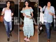 Janhvi, Khushi & Anshula Kapoor visit Manish Malhotra ahead of the wedding