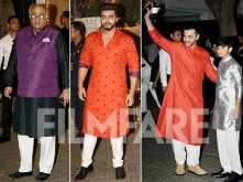 Boney Kapoor, Arjun & Sanjay Kapoor rock ethnic at Sonam Kapoor's Mehendi