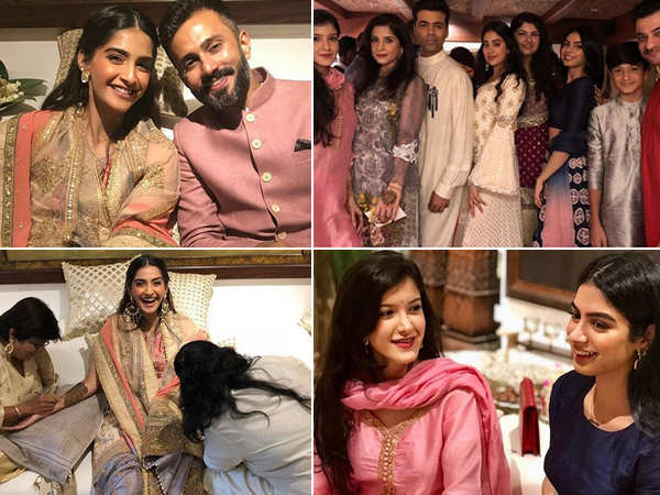 All the amazing inside pictures and videos from Sonam Kapoor's Mehendi