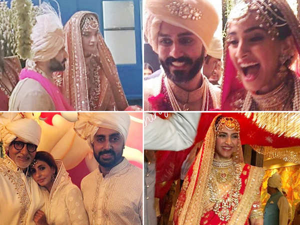 Inside photos and videos from Sonam Kapoor and Anand Ahuja's wedding