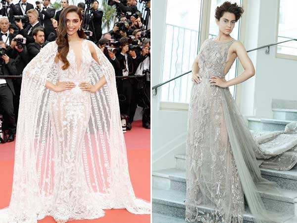 Guess what's common between Deepika Padukone & Kangana Ranaut's Cannes look